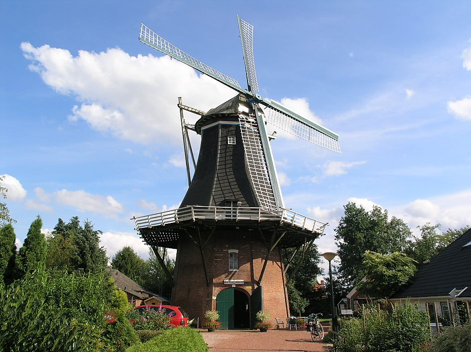 <p>Molen 'De Korenbloem' in volle glorie. - Foto: Wikimedia Commons</p>