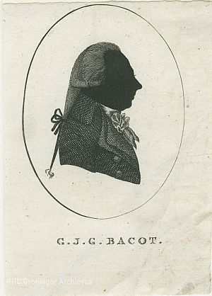 Gerard Jacob George Bacot, silhouette, 1799, RHC Groninger Archieven (1536-4095)