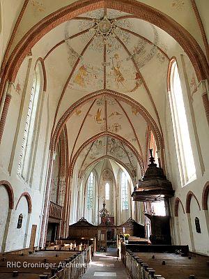 Interieur van de kerk van Noordbroek. - Foto: www.kerknoordbroek.nl